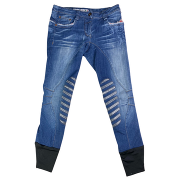 Animo Breeches in Denim/Patriotic Accents - Women's IT 38 (US 24)