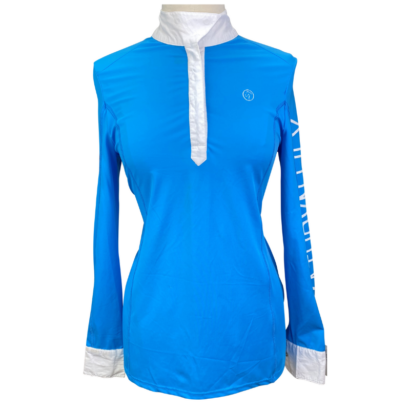 Kathryn Lily Competition Shirt in Blue.