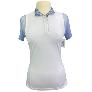 Le Fash Paulo Alto Short Sleeve Show Shirt in White/Baby Blue