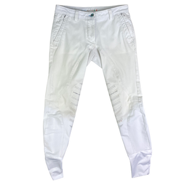Front of Animo Breeches in White.