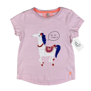 Joules 'I'm So Fancy' Tee in Light Pink