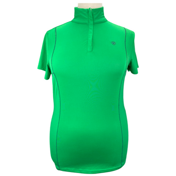 Ariat Short Sleeve 1/4 Zip Shirt in Green