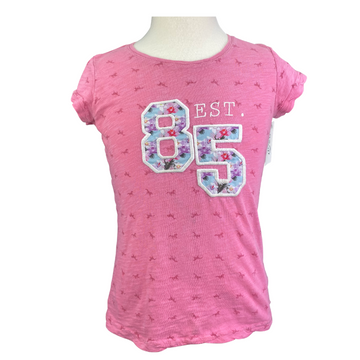 Horseware Tee in Pink/Horse Print - Children's 9/10 | M