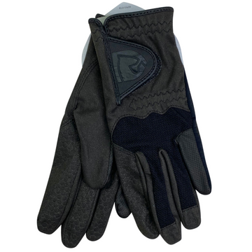 Noble Equestrian Crossover Riding Gloves in Black