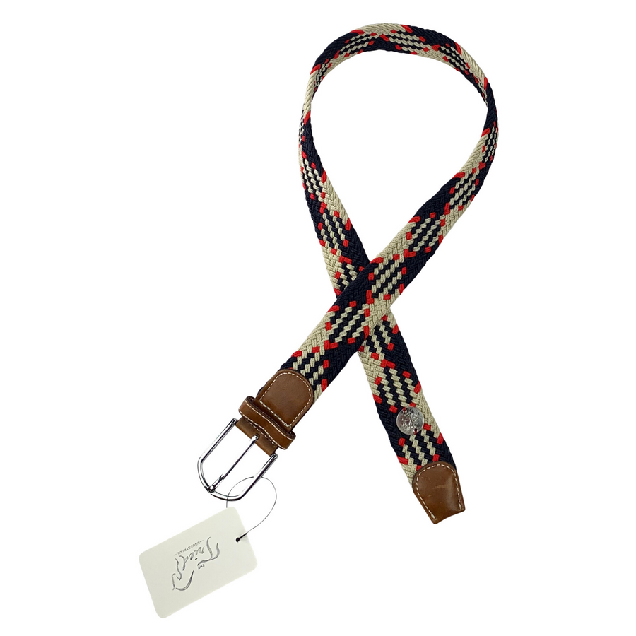 The Derby Belt-Jump Off in Navy/White/Red