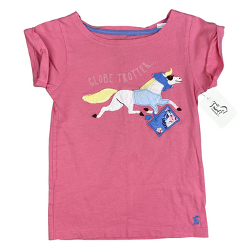Joules 'Globe Trotter' Tee in Pink