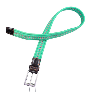 Manfredi Elastic Belt in Green/Pink