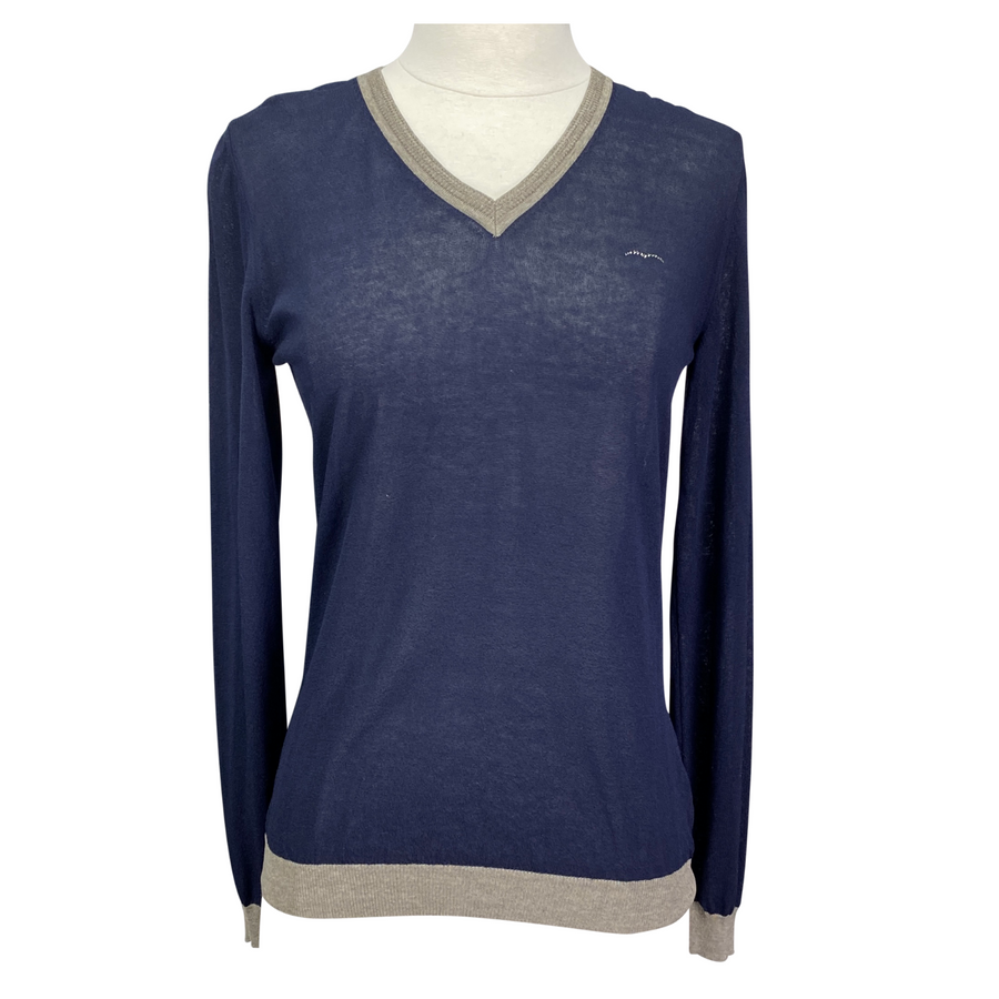 Animo 'Saku' Sweater in Navy/Tan Accents - Women's Medium