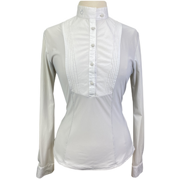 Cavalleria Toscana Technical Bib Show Shirt in Light Grey/White Bib.