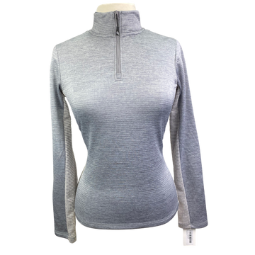 Dover Saddlery 1/4 Zip Sweater in Heather Grey