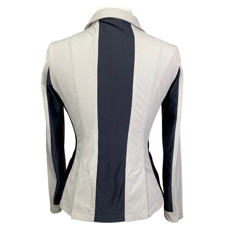 Back of Horseware Air MK2 Competition Coat in Dove grey - Women's Medium