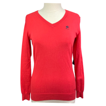 Kingsland V-Neck Sweater in Red - Women's Medium