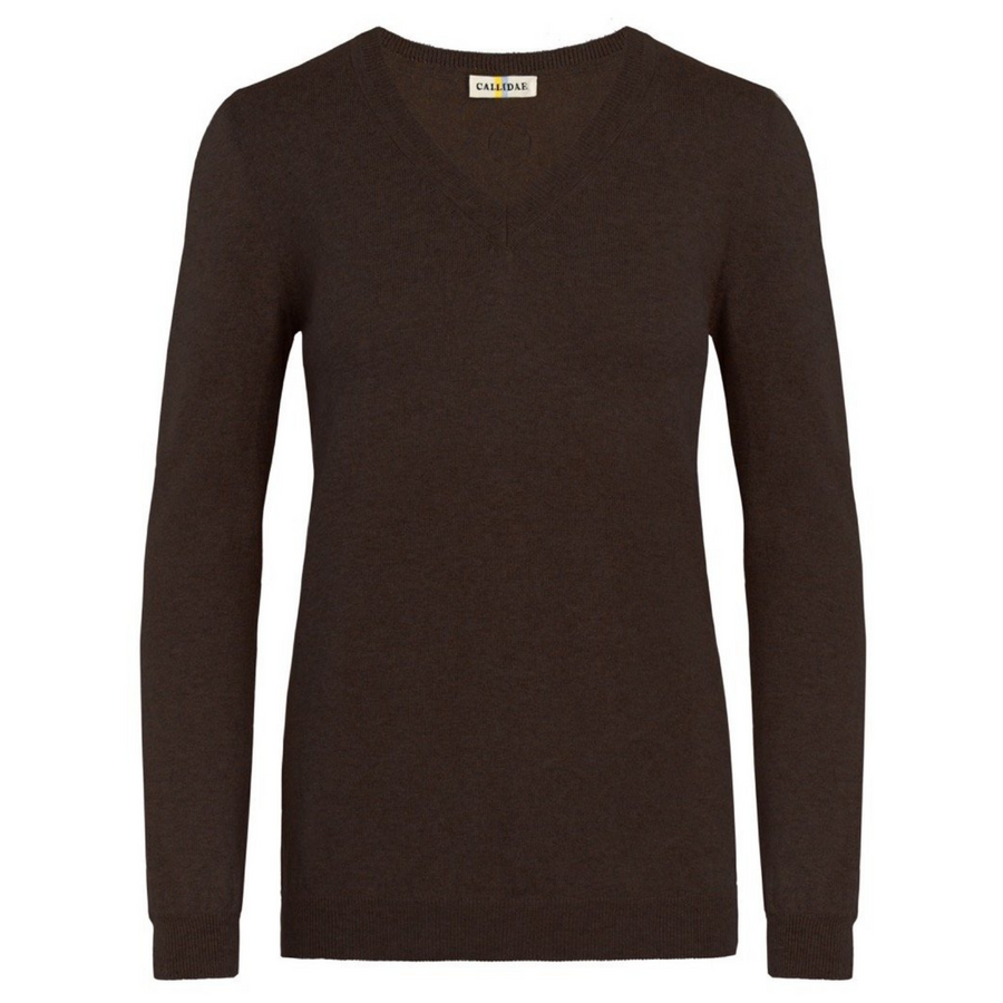 Callidae The V Neck Sweater in Brazil Nut - Women's Medium