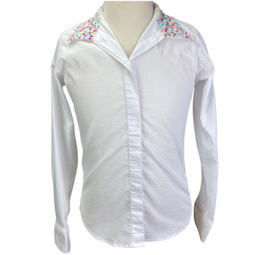 RJ Classics Cool Stretch Sterling Collection Show Shirt in White/ Multi Collar.