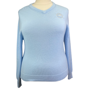 Cynthia Munro Cashmerlon Sweater in Light Blue