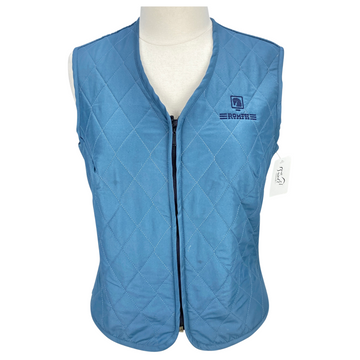 Front of Romfh Quilted Vest in Blue