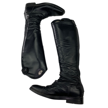 Side view of Parlanti Miami Essential Field Boots in Black
