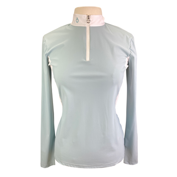 Cavalleria Toscana Jersey Competition Polo in Baby Blue - Women's XL