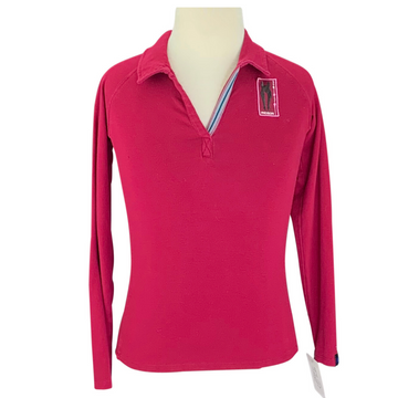 Irideon Furlong Long Sleeve Polo in Burgundy with logo