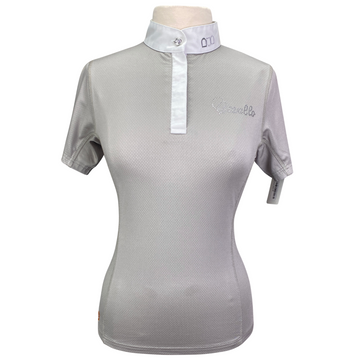 Cavallo Kalida Short Sleeve Competition Shirt in Grey - Women's Medium
