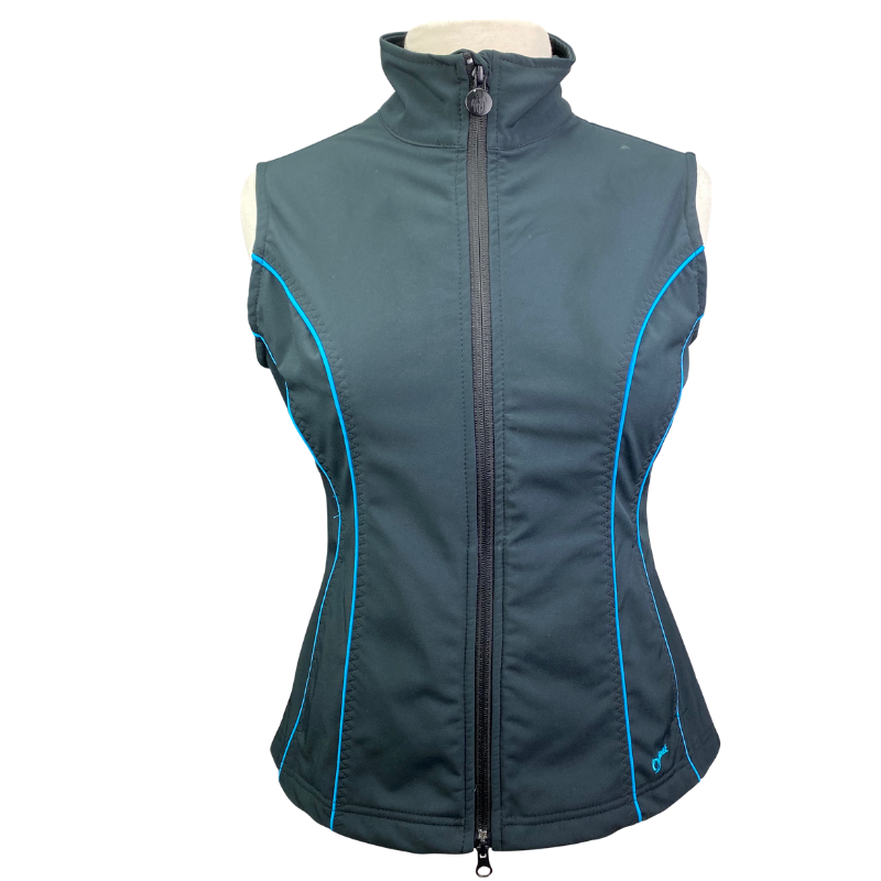 Outback Double Point Vest in Black/Electric Blue Accents - Women's Small