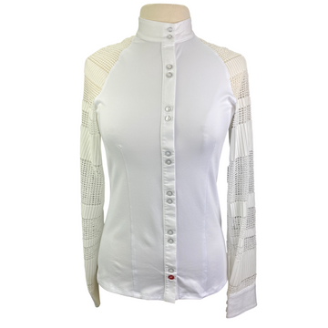 Levade Clothier 'Kate' Show Shirt in White - Women's XL