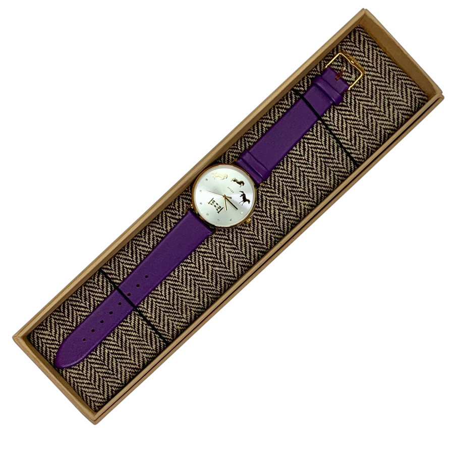In box Spiced Equestrian Watch in Purple