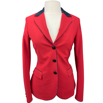 front of Cavalleria Toscana GP Competition Jacket in Red - Women's IT 44 (US 10)