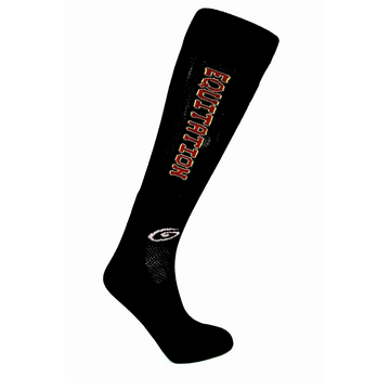 Foot Huggies Equitation Socks in Black/Cardinal Red