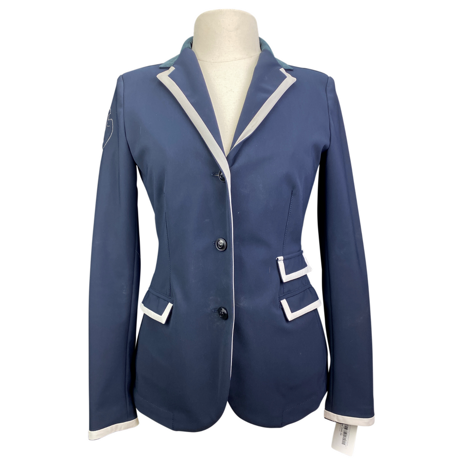 Cavalleria Toscana Competition Jacket in Navy/Tan Trim - Women's IT 44 (US 10)
