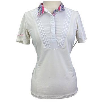 Fior Da Liso Alisa Shirt in Cream w/ White Bib.