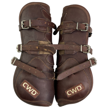 CWD Leather Tendon Boots in Dark Brown - Full Size