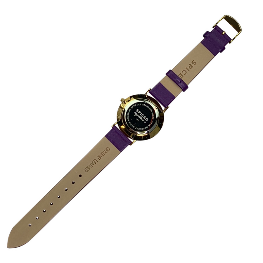 Back of Spiced Equestrian Watch in Purple