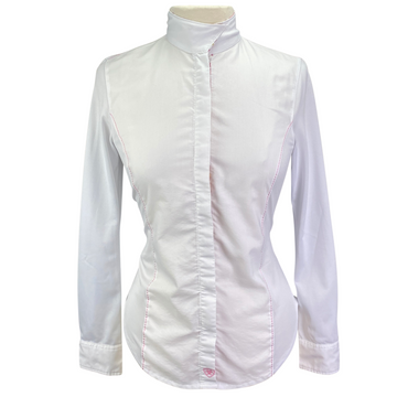 Ariat Pro Series Show Shirt in White/Floral - Women's 32 (XS)