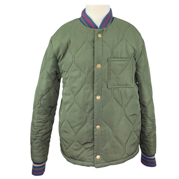 Art Class Down Jacket in Army Green