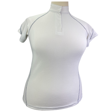 SmartPak Cool-Tech Show Shirt in White/Navy