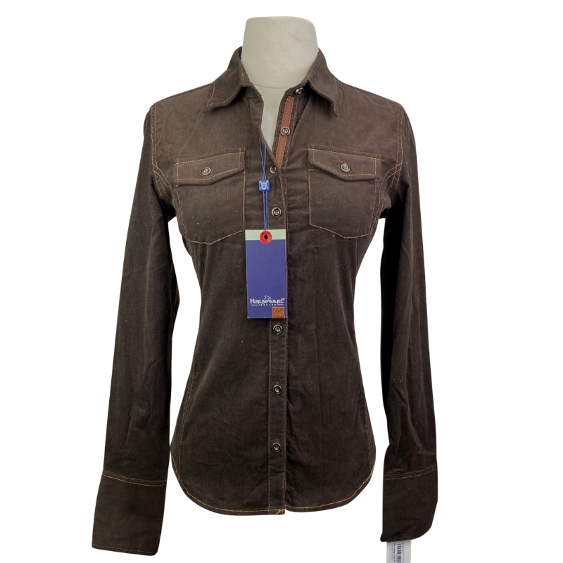 Horseware Corduroy Shirt in Brown - Women's Small