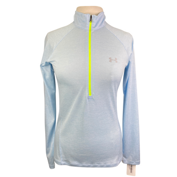 Under Armour Tech Twist 1/2 Zip Top in Sky Blue - Women's Medium