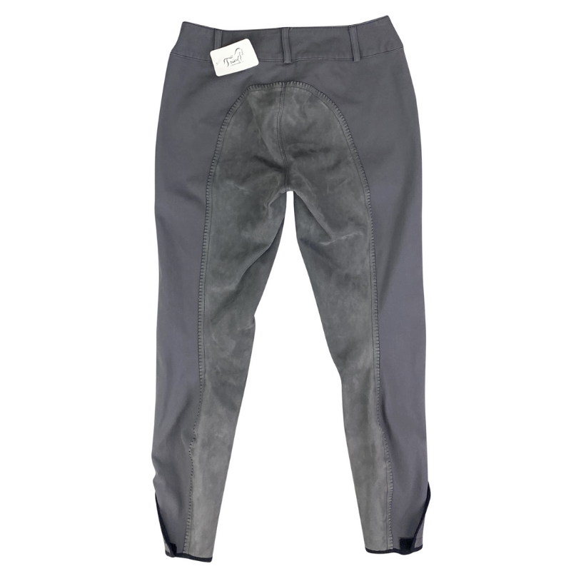 Back of Pikeur Cindy Full Seat Breeches in Grey.