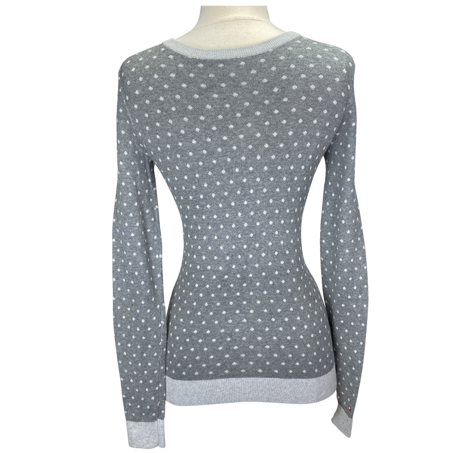 Tommy Hilfiger Essential Dot Sweater in Grey/Polka Dots - Women's Small