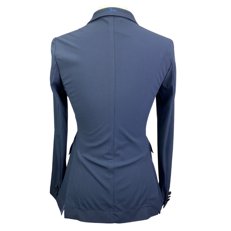Back of RJ Classics Orange Label Victory Show Jacket in Navy - Women's 2 Short