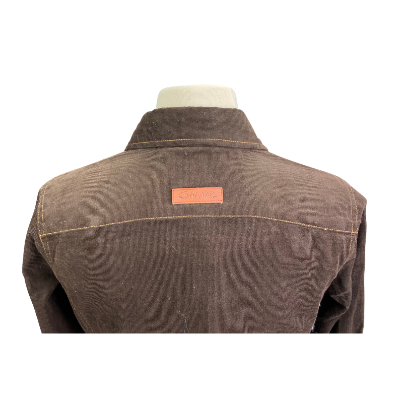 Close up of Horseware Corduroy Shirt in Brown - Women's Small