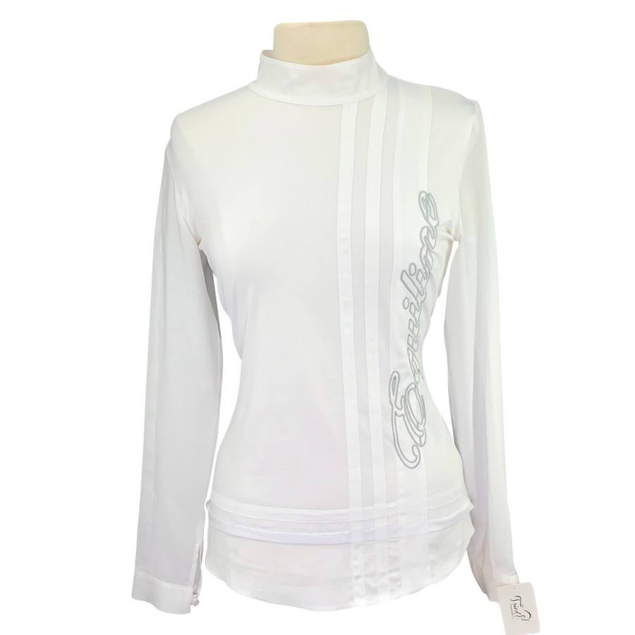 Equiline Long Sleeve Competition Shirt in White