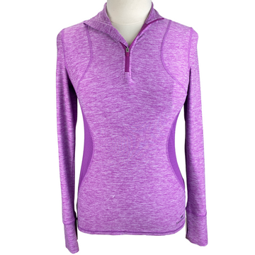 SmartPak 'Insect Shield' 1/4 Zip in Pink Heather - Women's XS