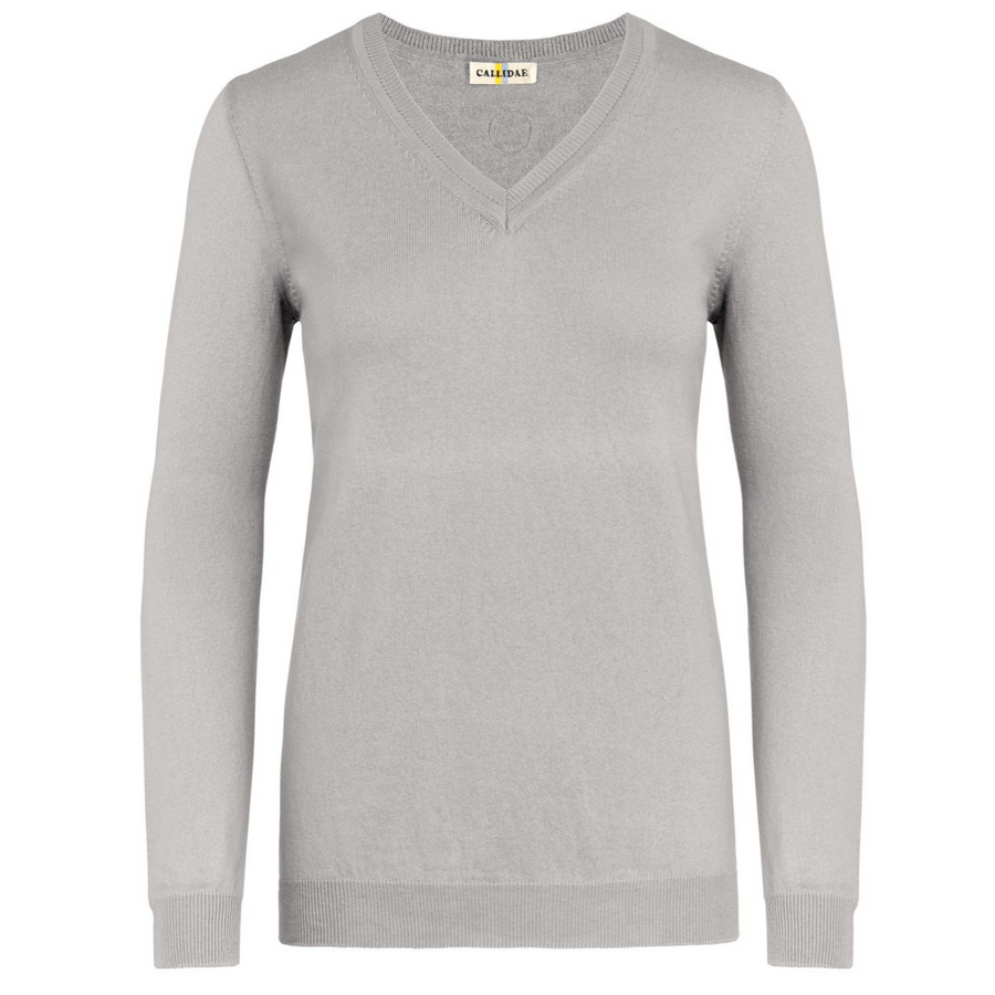 CALLIDAE The V Neck Sweater in Aldgate - Women's Large
