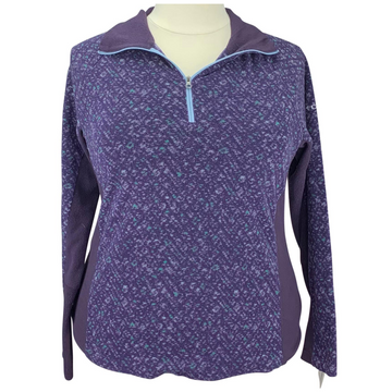 Columbia Fleece 1/4 Zip in Purple Multi