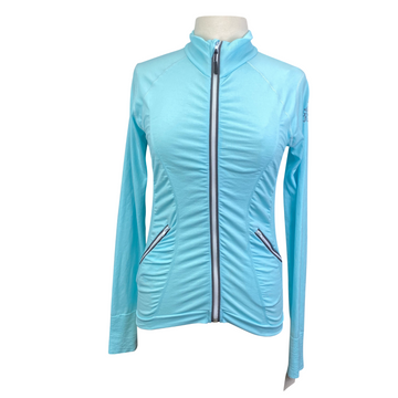 Goode Rider Seamless Cooltech Jacket in Teal - Women's Small