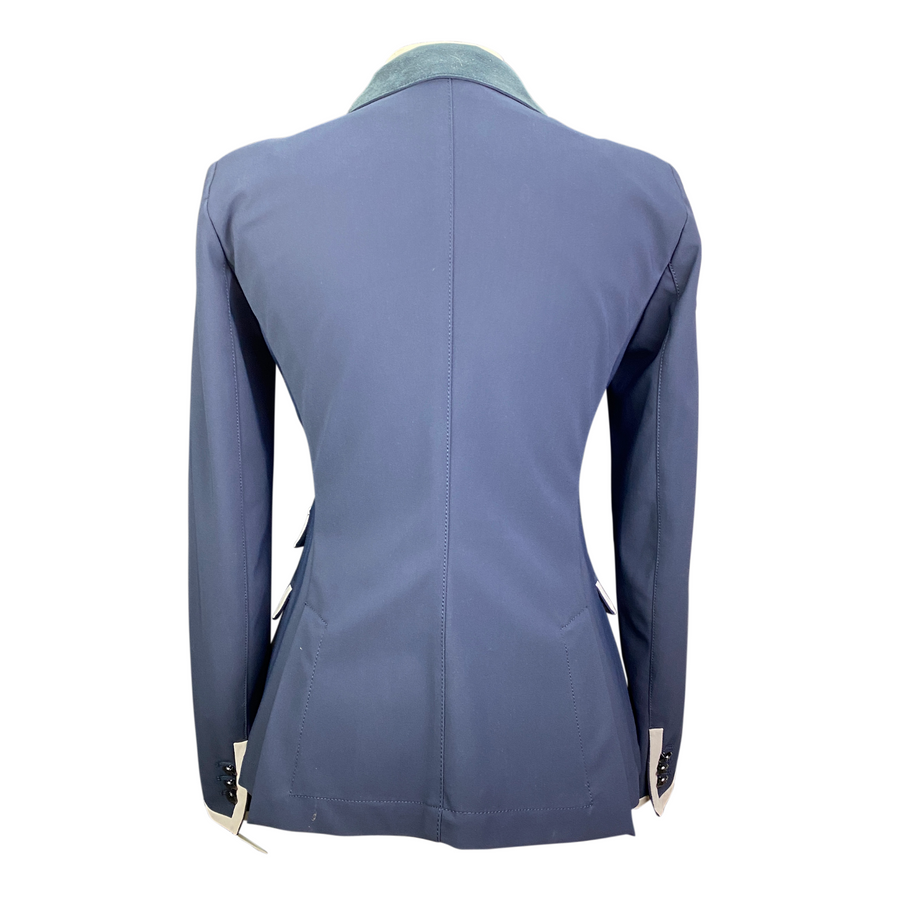 Back of Cavalleria Toscana Competition Jacket in Navy/Tan Trim - Women's IT 44 (US 10)