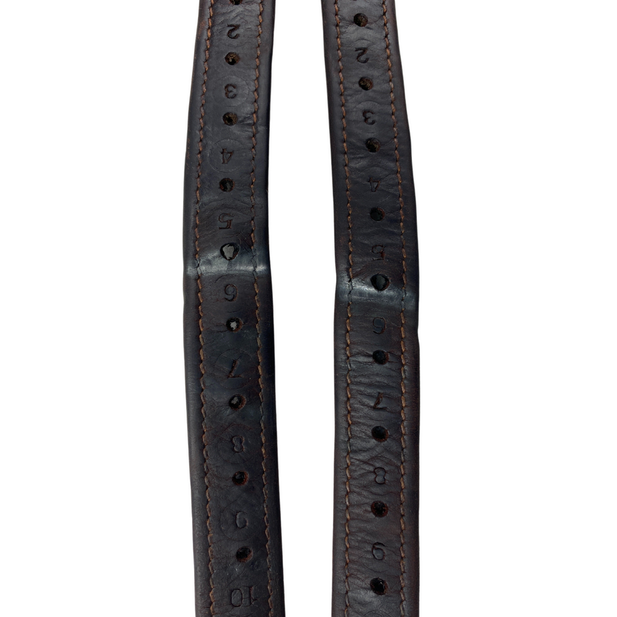 Closeup of CWD Nylon Lined Stirrup Leathers in Brown - 48