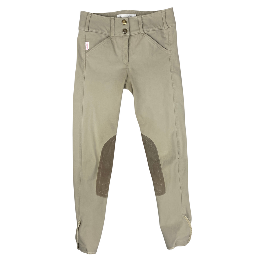 Front of Tailored Sportsman Trophy Hunter Breeches in Tan.